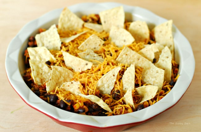 top casserole with Tortilla Chips