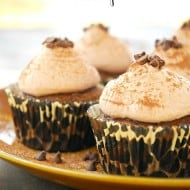 Milk Chocolate Mocha Cupcakes