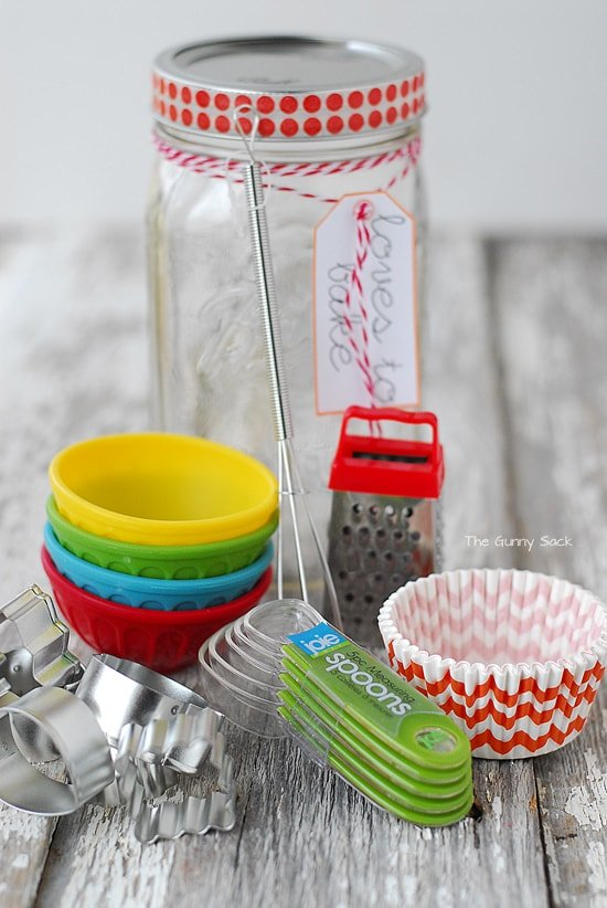 Baking Supplies Mason Jar Gift