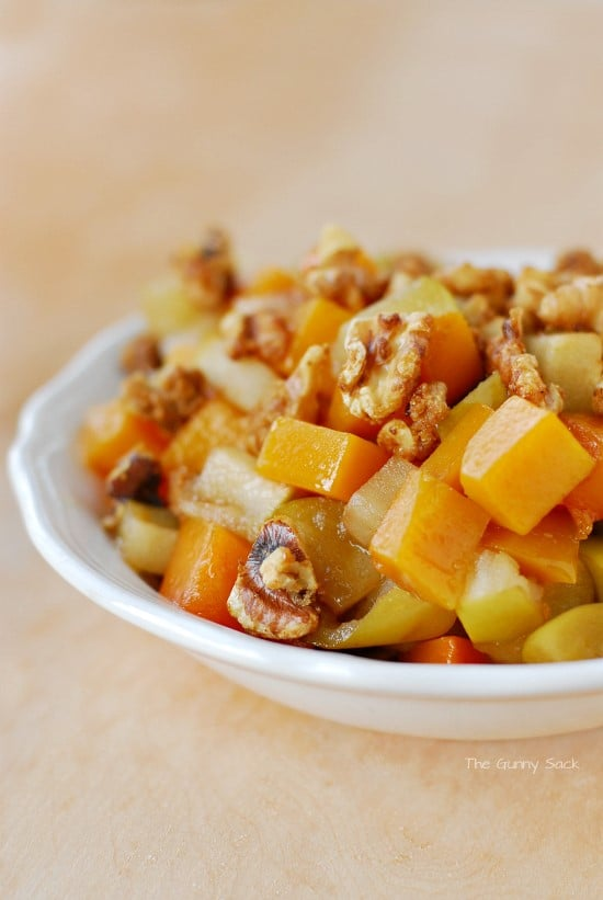 Butternut Squash and Apples Side in Dish
