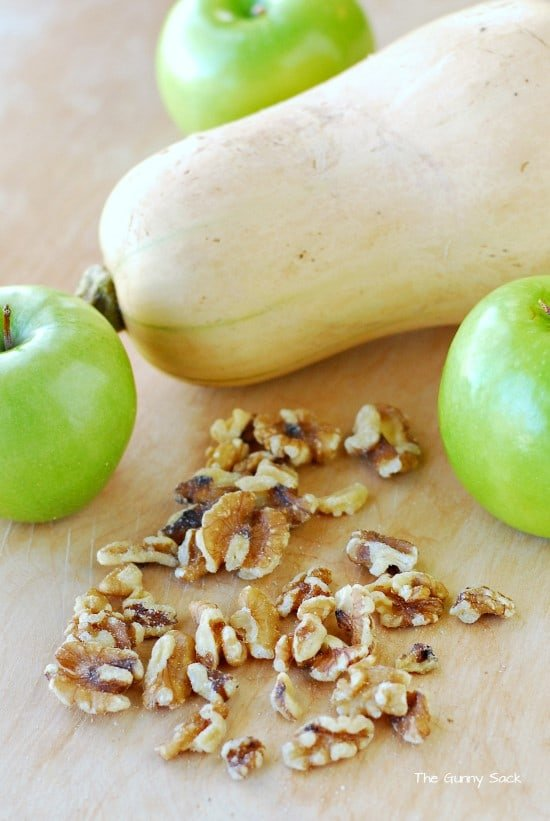 Butternut Squash Apples Walnuts