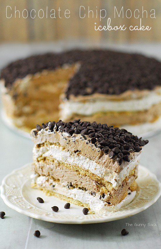 Mocha Coffee Ice Box Cake