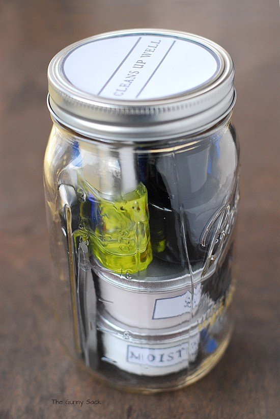 Cleans Up Well Mason Jar