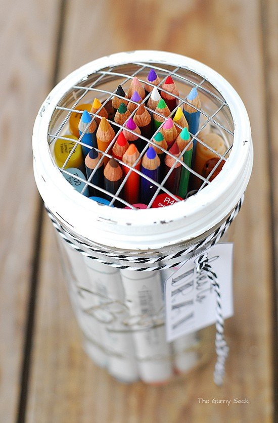 Colored Pencil Gifts In A Jar