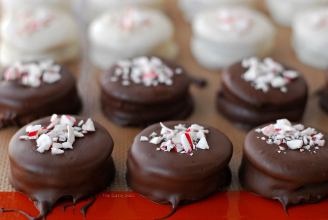 Dipped Chocolate Peppermint Cookies