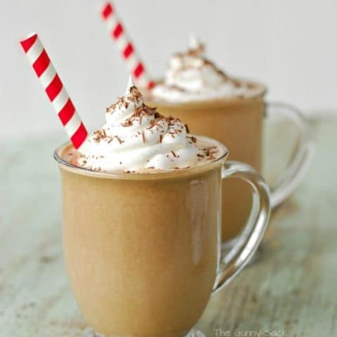 Holiday Mocha Punch in glasses