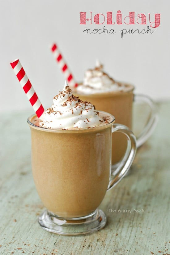 Holiday Mocha Punch In Cups