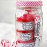 Peppermint Pampering Gifts In Jars For Homemade Christmas Gifts