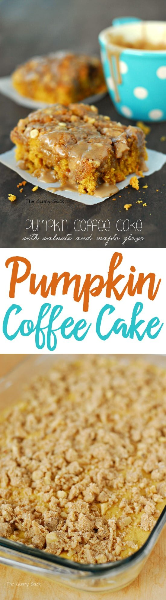 Pumpkin Coffee Cake With Maple Glaze