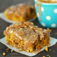 Maple Glazed Pumpkin Coffee Cake