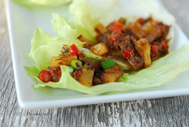 Sweet Korean BBQ Lettuce Wraps #CampbellsSkilledSaucers
