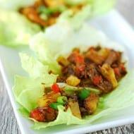 Slow Cooker Recipe For Sweet Korean BBQ Lettuce Wraps