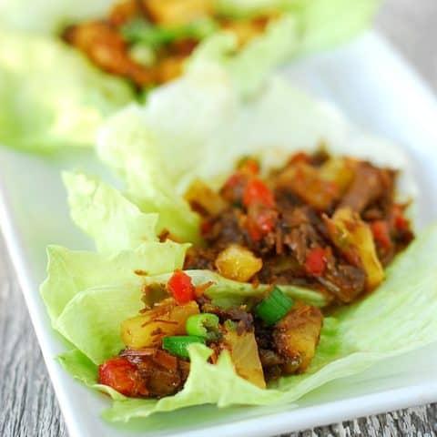 Sweet Korean Barbecue Lettuce Wraps