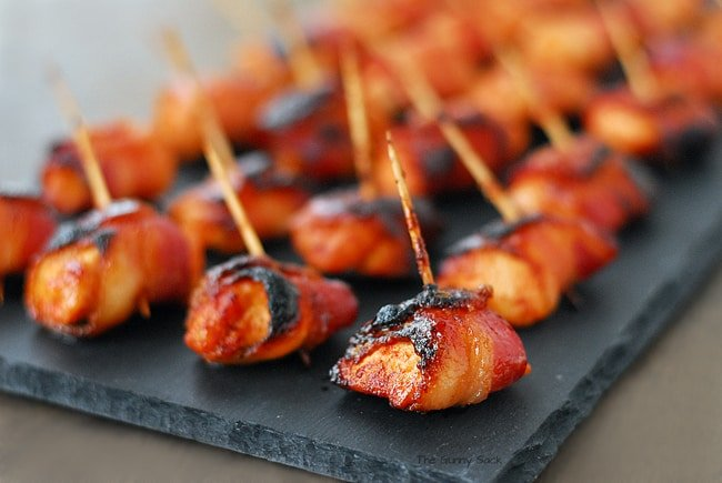 Bacon Wrapped Chicken Appetizer
