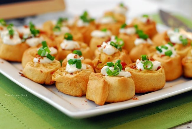 Loaded Potato Pinwheels Recipe