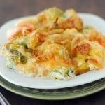 Vegetable Casserole on plate