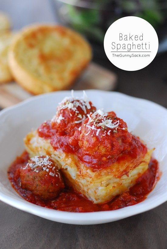 This Baked Spaghetti recipe is for mini loaves of creamy Alfredo baked ...
