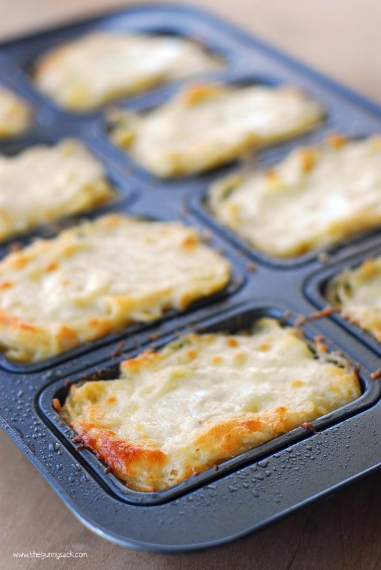 Mini Baked Spaghetti Loaves