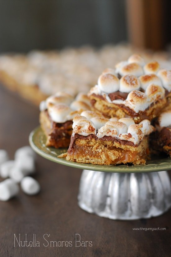 Nutella S'mores Bars Recipe