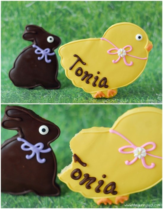 Chick and Bunny Cookies