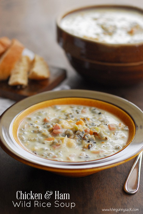 Chicken and Ham Wild Rice Soup