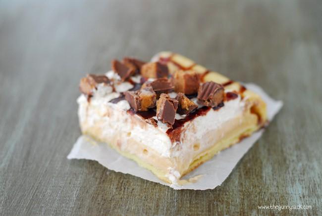 Peanut Butter Cup Eclair Dessert Slice