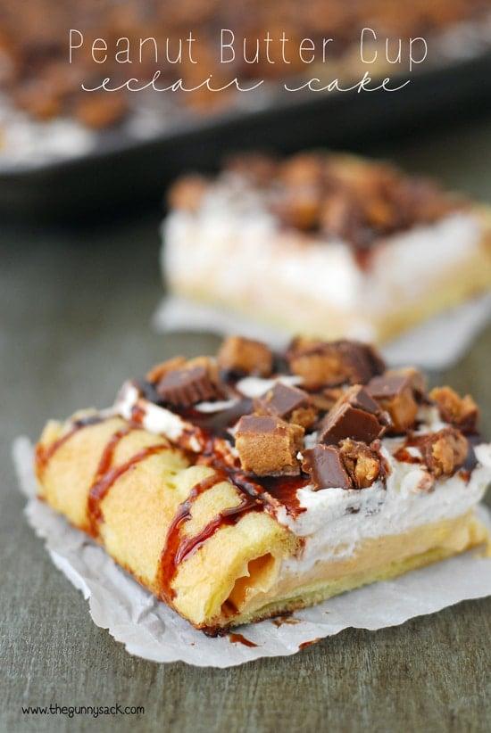 Peanut Butter Cup Eclair Cake