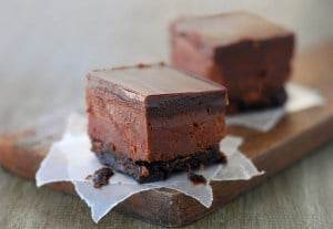 Chocolate Truffle Fudge Bars