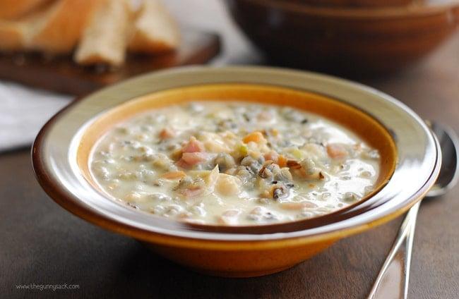 Chicken Wild Rice Soup With Ham