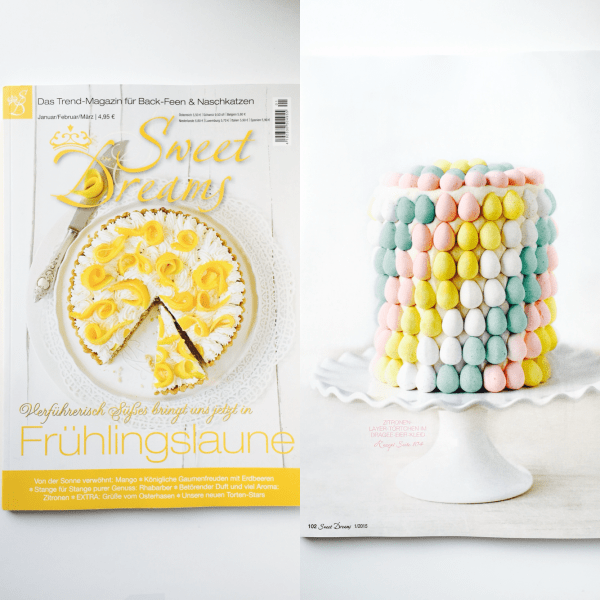 Cadbury Mini Egg Easter Cake In Magazine
