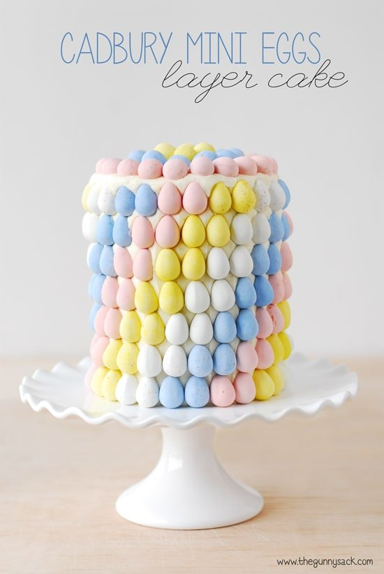 Mini Eggs Layer Cake for Easter and spring celebrations. This cake ...