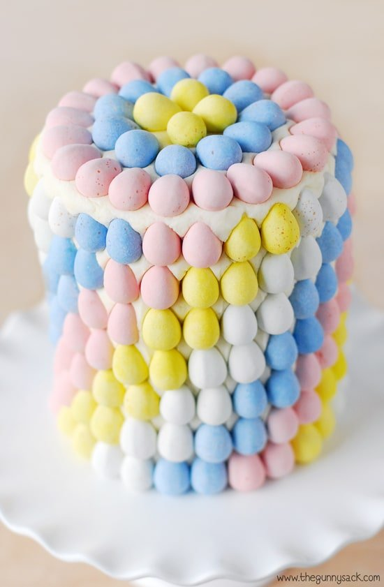 Ombre Eggs on Cake