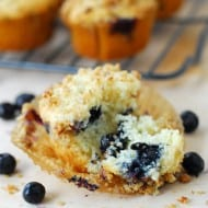 Streusel Blueberry Muffins