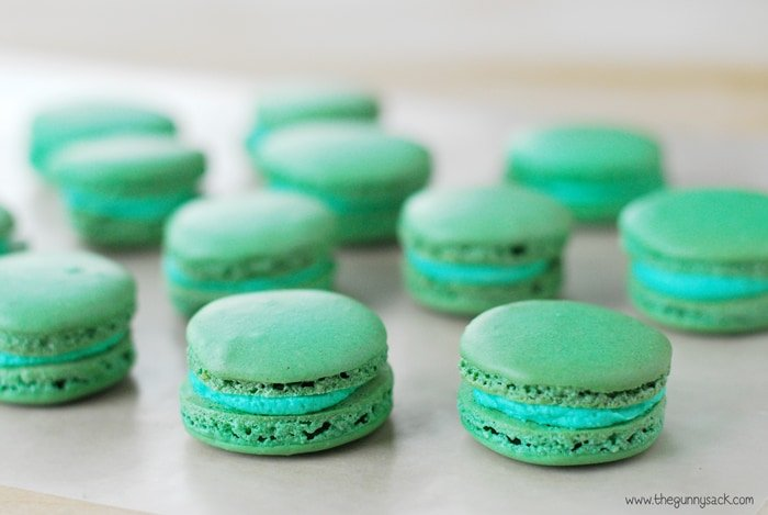 French Macarons filled with buttercream