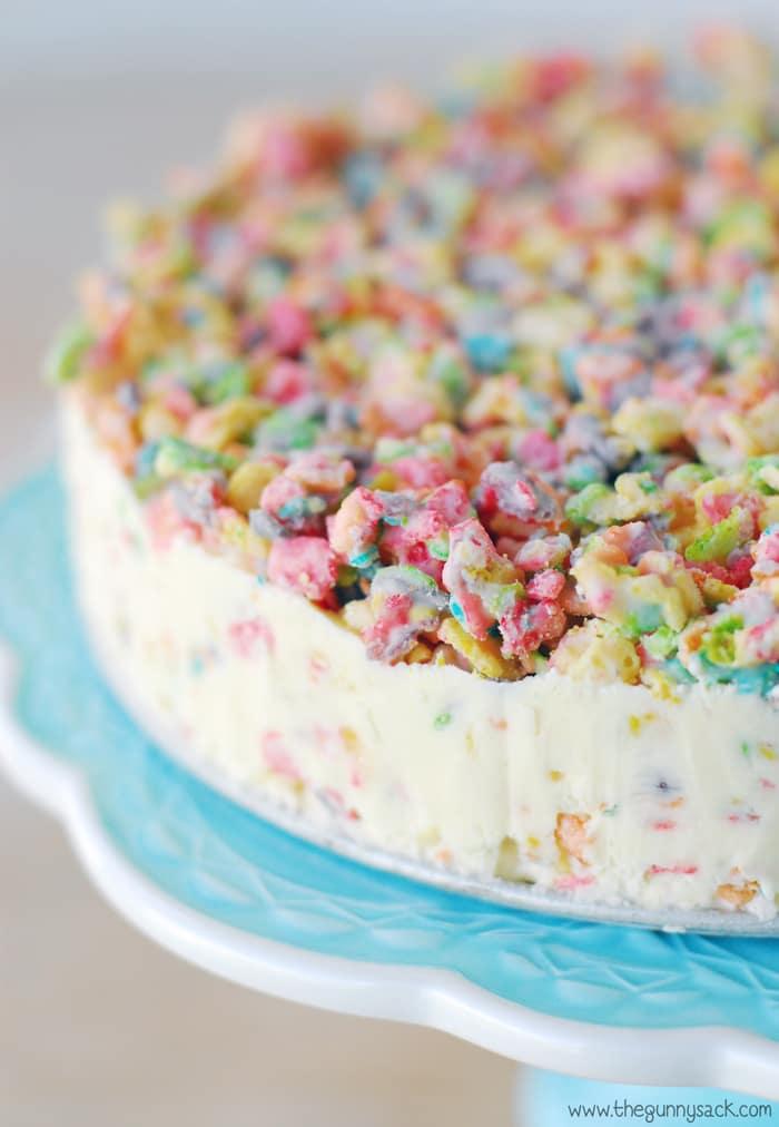 Rice Krispie Ice Cream Cake