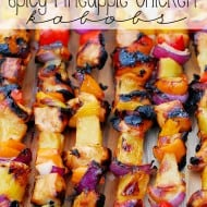 Spicy Pineapple Chicken Kabobs