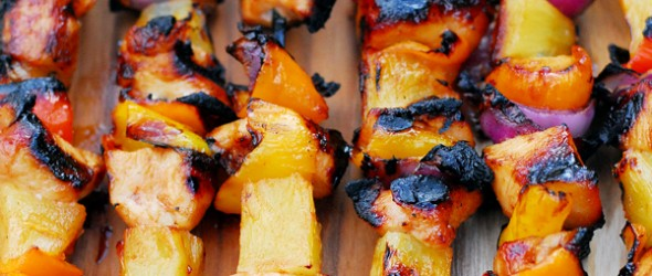 Spicy Pineapple Chicken Kabobs