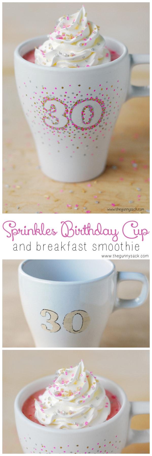 Sprinkles Birthday Cup Breakfast Smoothie