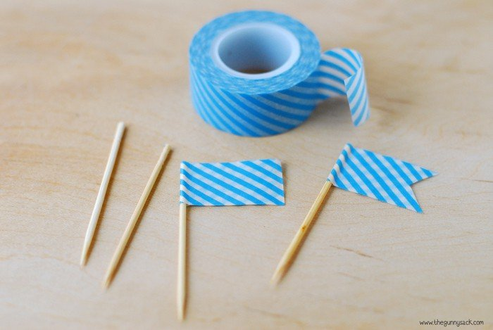 Washi Tape Cupcake Flag