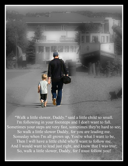 Daddy's Footsteps Father's Day Poem
