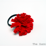 Felt Flower Ponytail Holder