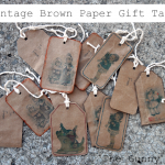 vintage brown paper gift tags