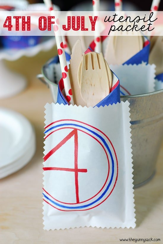 4th of July Utensil Packet