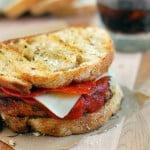 Bacon Cheddar Chicken Pizza Sandwich