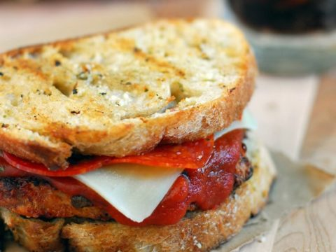 Bacon Cheddar Pizza Chicken Sandwich Recipe
