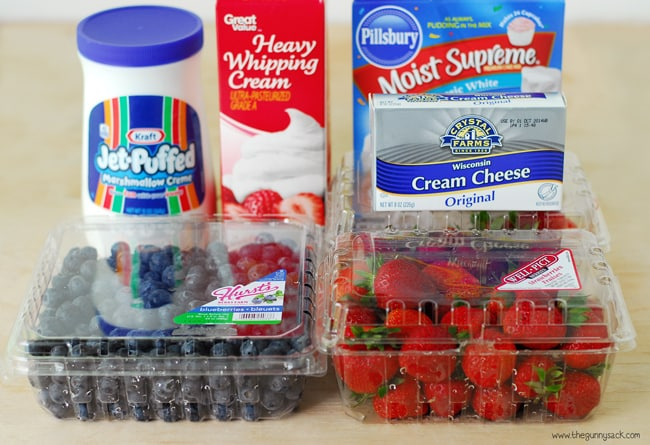 Double Berry Torte Ingredients #WalmartProduce