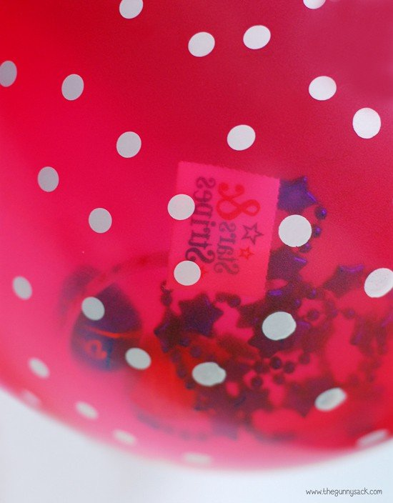 prizes in balloon