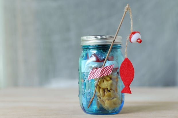 go fishing mason jar