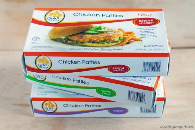 Gold'n Plump Chicken Patties Flavors