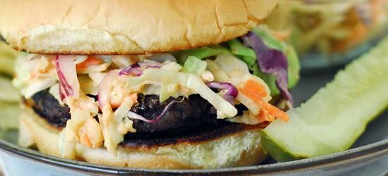 Grilled Slaw Burger Recipe